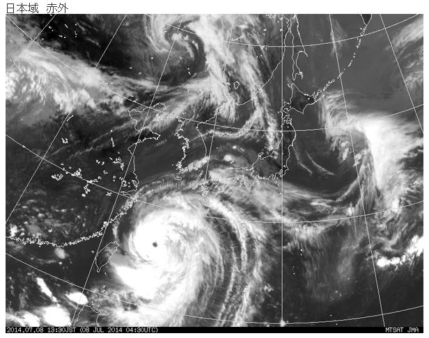 7月8日の衛星画像