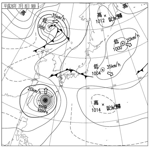 7月8日の天気図