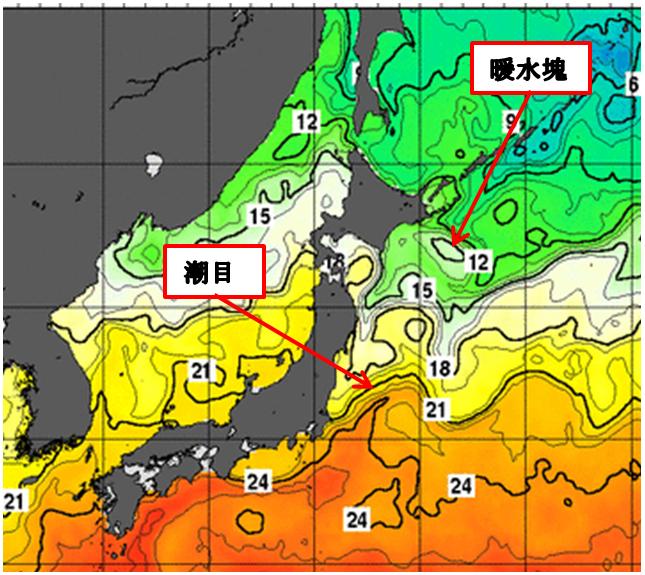 北日本の東海上に見える複雑な模様は_4