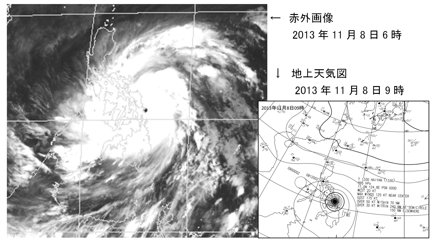 フィリピンを襲ったsuper typhoon