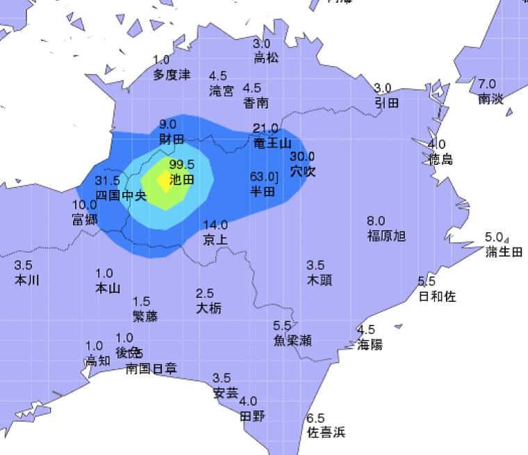 徳島県西部で記録的な大雪_2