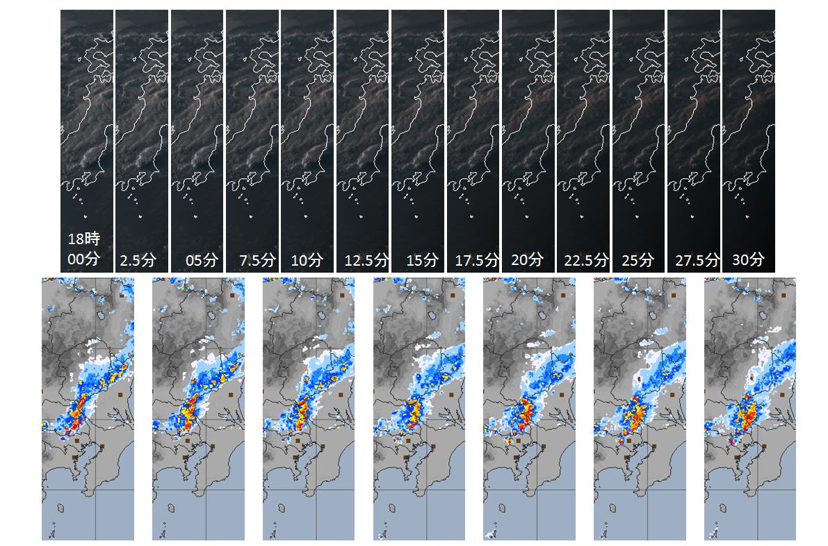高分解能画像例雷雲発達