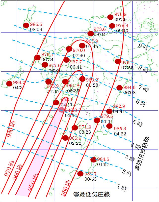 台風第15号が九州上陸時の観測記録_3