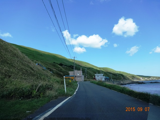礼文島の道