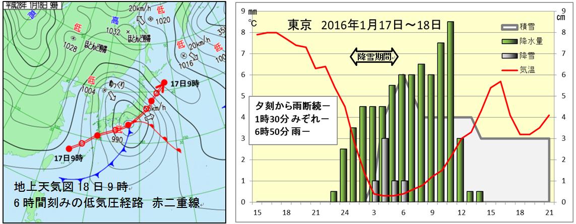1月18日の関東地方の雪は重かった_1