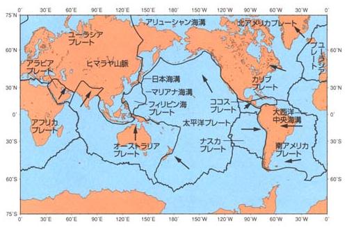 世界のプレート境界